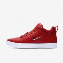 Nike zapatillas para hombre tiempo vetta 17 rojo universitario/blanco/marrón claro goma/oro metalizado
