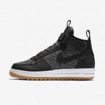 Nike zapatillas para hombre lunar force 1 flyknit workboot negro/gris lobo/marrón claro goma/blanco