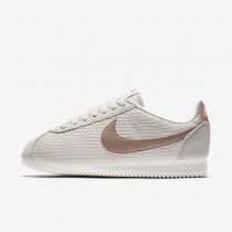 Nike zapatillas para mujer classic cortez leather lux hueso claro/vela/bronce rojo metálico/bronce rojo metálico