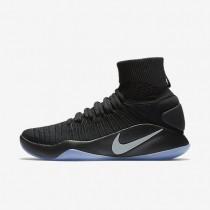 Nike zapatillas para hombre hyperdunk 2016 flyknit negro/platino metalizado
