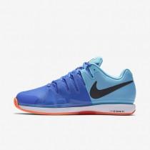 Nike zapatillas para hombre court zoom vapor 9.5 tour clay azul polarizado/azul medio/hipernaranja/negro