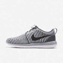 Nike zapatillas para hombre roshe two flyknit gris oscuro/gris lobo/blanco/gris oscuro