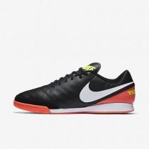 Nike zapatillas para hombre tiempo genio ii leather ic negro/hipernaranja/voltio/blanco
