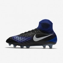 Nike zapatillas para hombre magista obra ii fg negro/azul extraordinario/aluminio/blanco