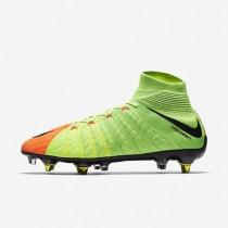 Nike zapatillas para hombre hypervenom phantom 3 df sg-pro anti-clog verde eléctrico/hipernaranja/voltio/negro