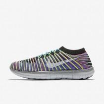 Nike zapatillas para mujer free rn motion flyknit negro/azul carrera/rosa intenso/blanco
