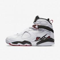 Nike zapatillas para hombre air jordan retro 8 blanco/negro/gris lobo/rojo gimnasio