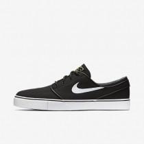 Nike zapatillas para hombre sb zoom stefan janoski canvas negro/marrón claro goma/estrella de oro metálico/blanco