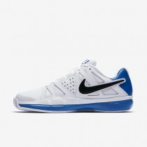 Nike zapatillas para hombre court air vapor advantage clay blanco/azul foto claro/negro