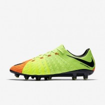 Nike zapatillas para hombre hypervenom phantom 3 ag-pro verde eléctrico/hipernaranja/voltio/negro
