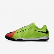 Nike zapatillas para hombre hypervenomx finale ii tf verde eléctrico/hipernaranja/mango brillante/negro