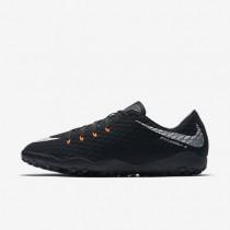Nike zapatillas para hombre hypervenomx phelon 3 tf negro/negro/antracita/plata metalizado