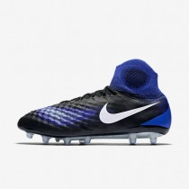 Nike zapatillas para hombre magista obra ii ag-pro negro/azul extraordinario/aluminio/blanco