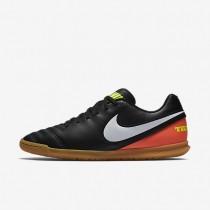 Nike zapatillas para hombre tiempo rio iii ic negro/hipernaranja/voltio/blanco