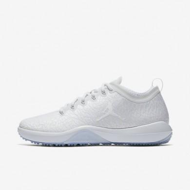 Nike zapatillas para hombre air jordan trainer 1 low blanco/platino puro/blanco
