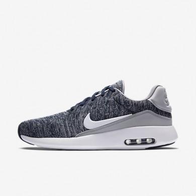 Nike zapatillas para hombre air max modern flyknit azul marino universitario/gris lobo/blanco