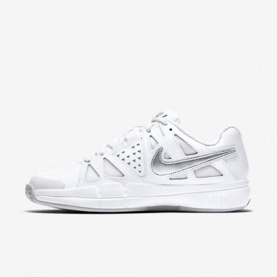 Nike zapatillas para mujer court air vapor advantage clay blanco/platino puro/plata metalizado