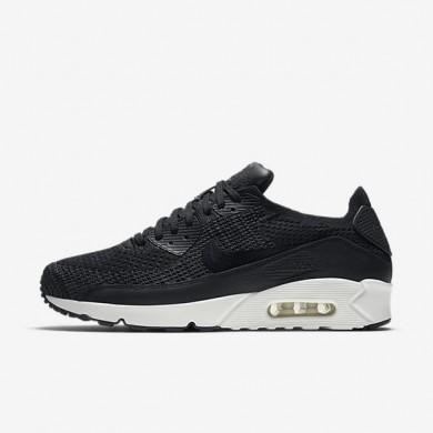 Nike zapatillas para hombre lab air max 90 flyknit negro/vela/vela/negro
