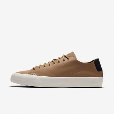 Nike zapatillas para hombre blazer studio low qs tostado vachetta/vela/marrón claro goma/tostado vachetta
