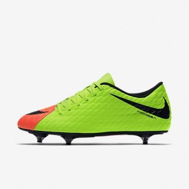 Nike zapatillas para hombre hypervenom phade iii sg verde eléctrico/hipernaranja/voltio/negro
