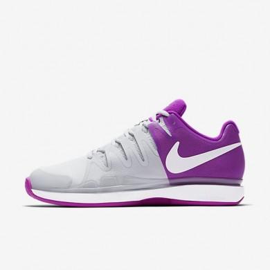 Nike zapatillas para mujer court zoom vapor 9.5 tour clay platino puro/morado vivo/blanco/blanco