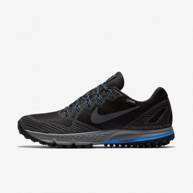 Nike zapatillas para hombre air zoom wildhorse 3 gtx negro/azul foto/gris lobo/gris oscuro