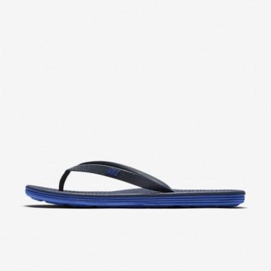 Nike zapatillas para hombre solarsoft ii azul marino medianoche/azul carrera