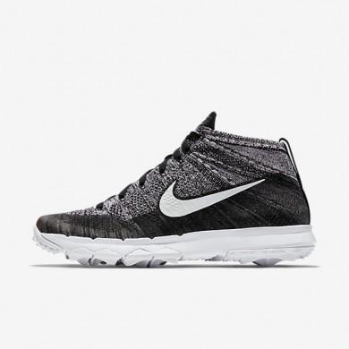 Nike zapatillas para hombre flyknit chukka negro/blanco