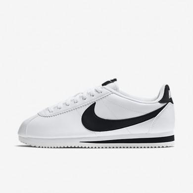 Nike zapatillas para mujer classic cortez leather blanco/blanco/negro