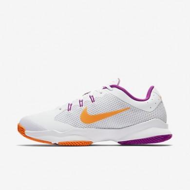 Nike zapatillas para mujer court air zoom ultra clay blanco/platino puro/morado vivo/tarta