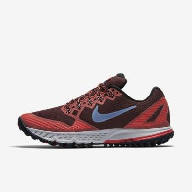 Nike zapatillas para hombre air zoom wildhorse 3 castaña noche/brasa resplandor/negro/niebla océano