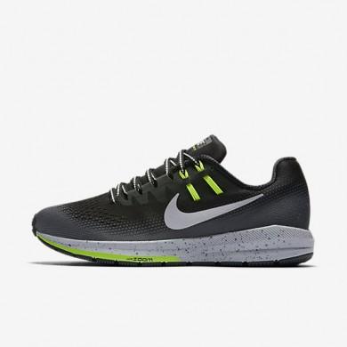 Nike zapatillas para mujer air zoom structure 20 shield negro/gris oscuro/gris lobo/plata metalizado