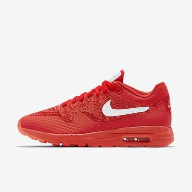 Nike zapatillas para mujer air max 1 ultra flyknit carmesí brillante/rojo universitario/mango brillante/blanco