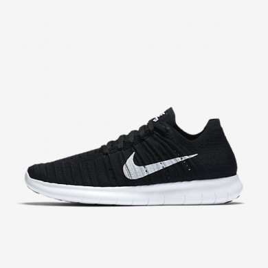 Nike zapatillas para mujer free rn flyknit negro/blanco