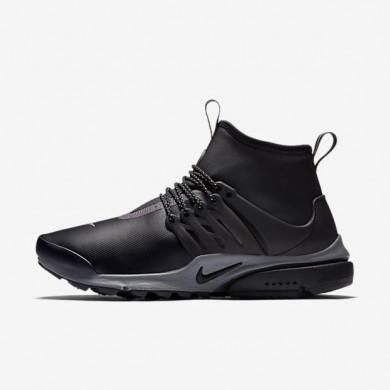 Nike zapatillas para mujer air presto mid utility negro/reflejo plata/gris oscuro/negro