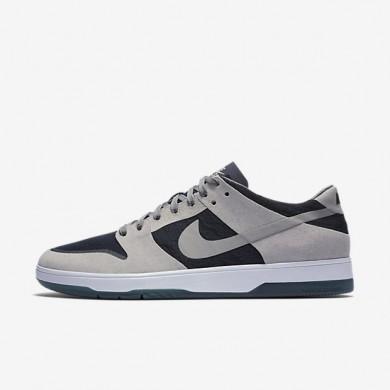 Nike zapatillas para hombre sb zoom dunk low elite gris medio/obsidiana oscuro/blanco/gris medio