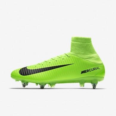 Nike zapatillas para hombre mercurial veloce iii sg-pro verde eléctrico/lima flash/blanco/negro