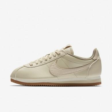 Nike zapatillas para mujer classic cortez leather lux crudo/vela/marrón medio goma/crudo
