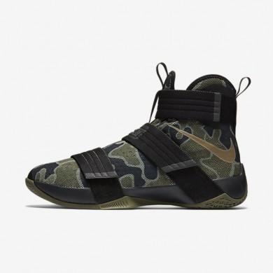 Nike zapatillas para hombre zoom lebron soldier 10 sfg negro/oliva medio/bambú