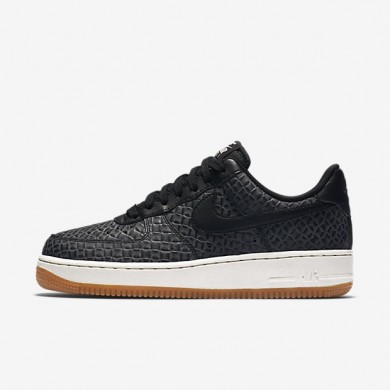 Nike zapatillas para mujer air force 1 07 premium negro/vela/marrón medio goma/negro