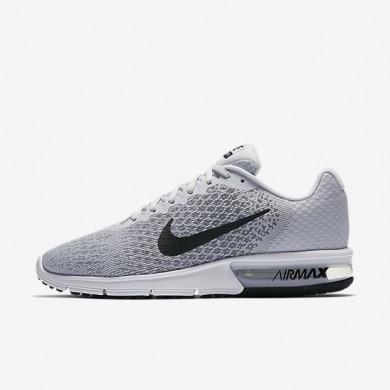Nike zapatillas para hombre air max sequent 2 platino puro/gris azulado/gris lobo/negro