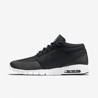 Nike zapatillas para hombre sb stefan janoski max mid negro/plata metalizado/blanco/negro
