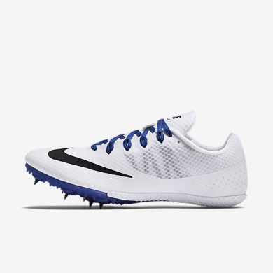 Nike zapatillas unisex zoom rival s 8 blanco/azul carrera/negro