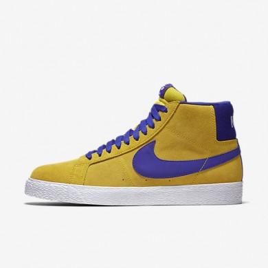 Nike zapatillas para hombre sb blazer mid amarillo tour/blanco/noche intenso