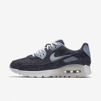 Nike zapatillas para mujer air max 90 ultra premium azul marino medianoche/blanco/gris azulado