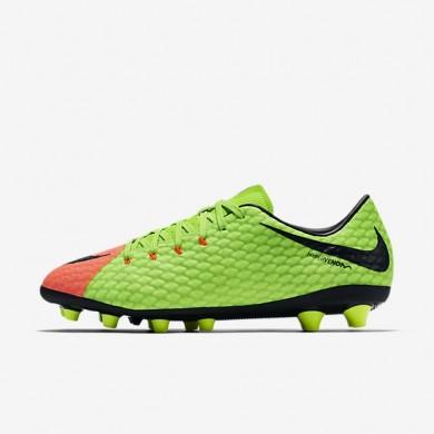 Nike zapatillas para hombre hypervenom phelon 3 ag-pro verde eléctrico/hipernaranja/voltio/negro