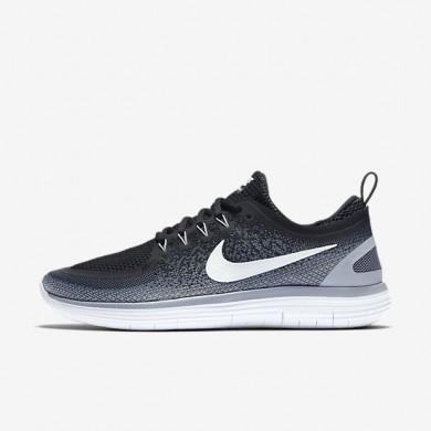 Nike zapatillas para hombre free rn distance 2 negro/gris azulado/gris oscuro/blanco