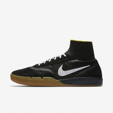 Nike zapatillas para hombre sb koston 3 hyperfeel negro/amarillo strike/marrón claro goma/blanco