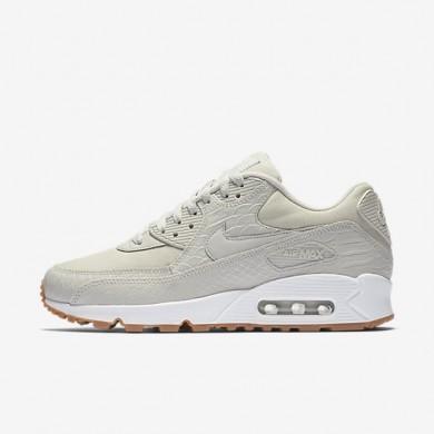 Nike zapatillas para mujer air max 90 premium hueso claro/amarillo goma/blanco/hueso claro