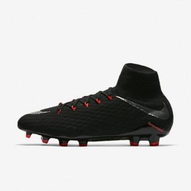 Nike zapatillas para hombre hypervenom phatal 3 df fg negro/negro/antracita/plata metalizado